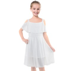 Kids  Cut Out Shoulders Chiffon Dress
